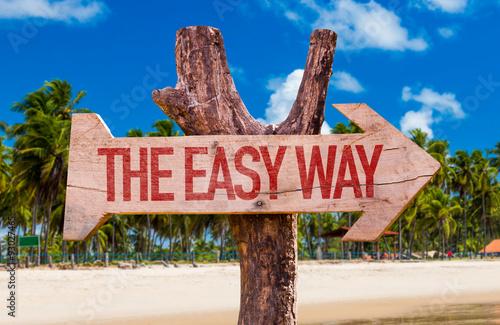 Fotografie, Obraz  The Easy Way arrow with beach background