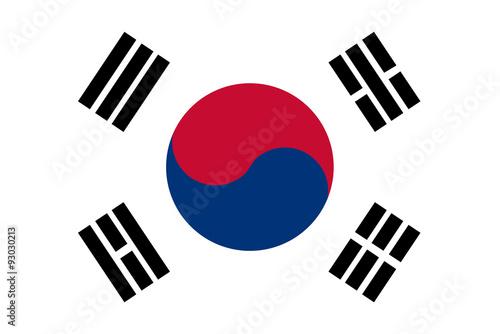 Fotomural  South Korea flag