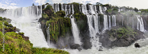 Fotoposter Watervallen Panorama, Iguazu Falls, Argentina