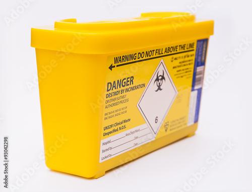 Fotografie, Obraz  Medical sharps waste container