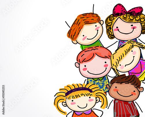 grupa-dzieci-szkic
