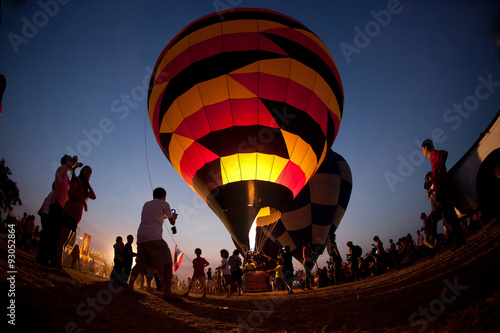 Fotografia The balloon twilight in Thailand