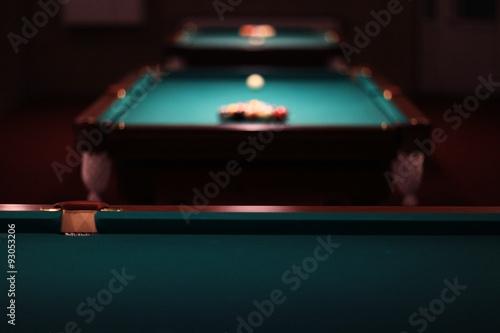 billiards, billiard balls on the table Fototapet