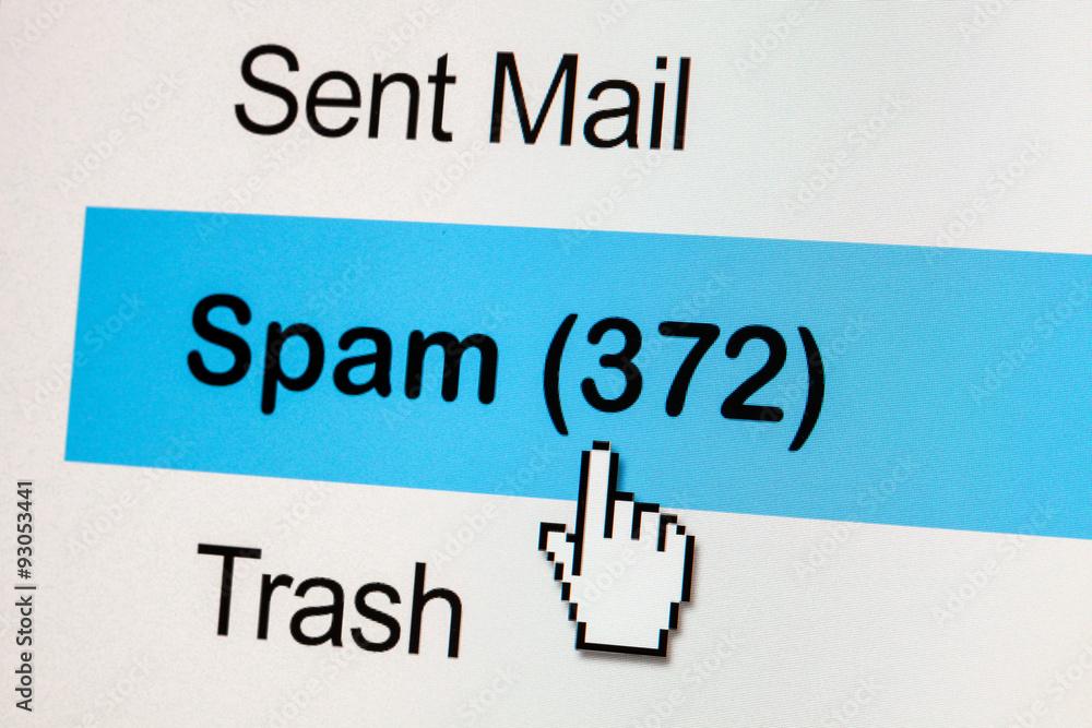 Fototapeta spam email