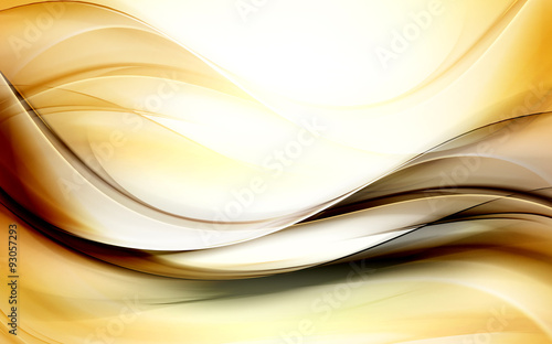 Fotobehang Fractal waves Decorative Gold Abstract Background