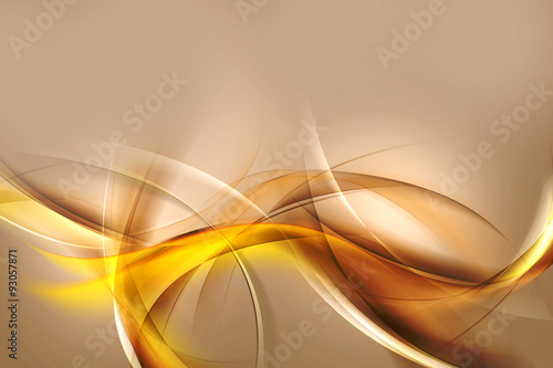 Poster Abstract wave Abstract Gold Wave Design Background