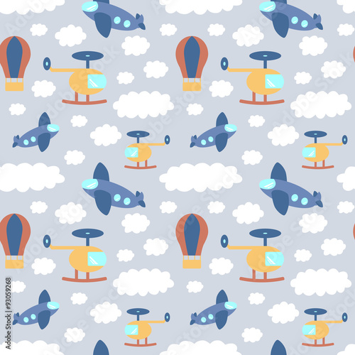 powtarzajacy-sie-wzor-z-samolotami-helikopterami-i-balonami