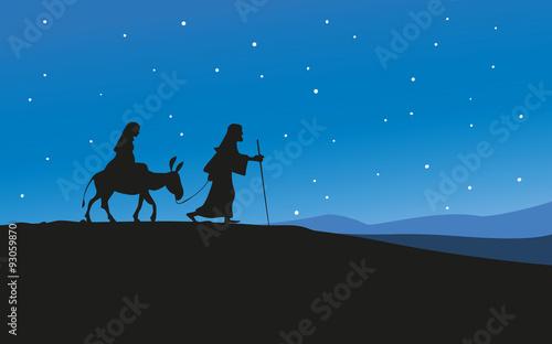 Weihnachtsgeschichte Maria und Josef Fototapet