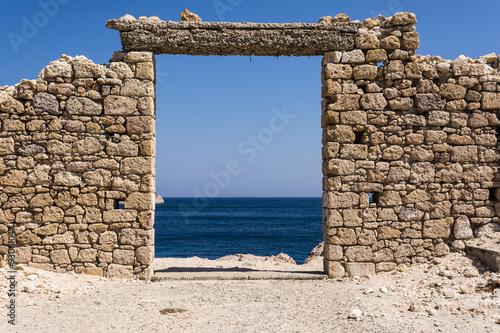 In de dag Rudnes View of Firopotamos village at Milos island, Cyclades, Greece.
