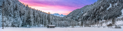 Poster Gris Winterliche Alpenlandschaft in Österreich