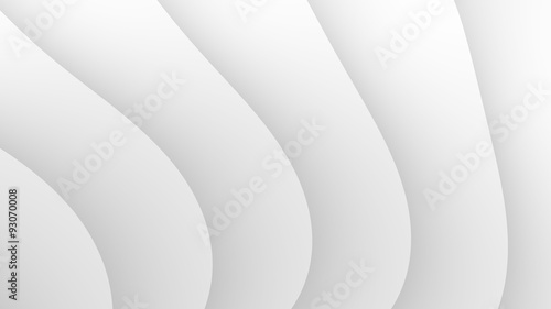 Fototapety, obrazy: Simple abstract white waves fractal background
