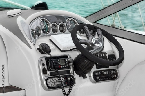 Modern Speed Motor Boat Interior