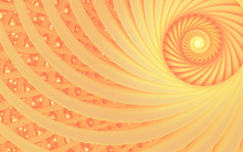 Abstract Fantasy Swirl Tunnel With Tender Peach Lines