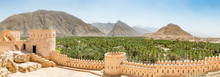 Panoramic View Of Nakhal In The Al Batinah Region Of Oman. It Is Located About 120 Km To The West Of Muscat, The Capital Of Oman. It Is Known As The Town Of Oasis.