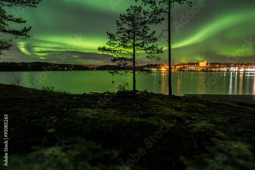Foto auf Gartenposter Nordlicht Northern lights Finland Kuopio