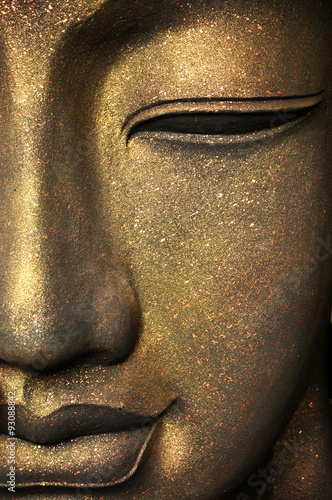 Fotografiet  The face of Buddha