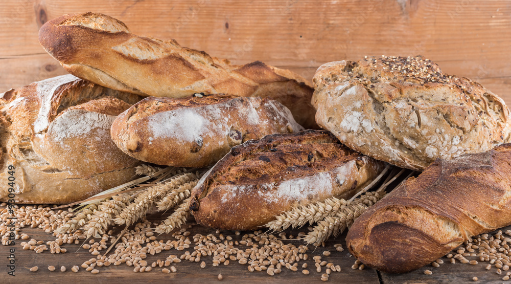 Composition of various breads