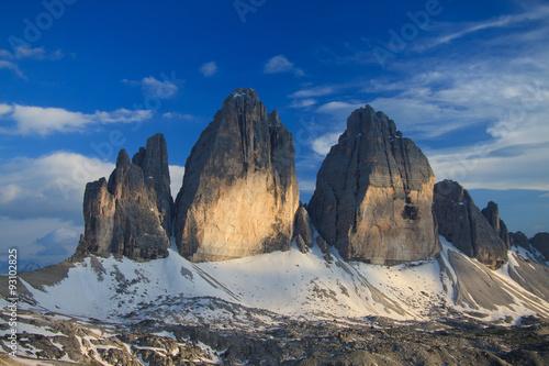 Photo  tre cime di Lavaredo - Dolomiti di Sesto