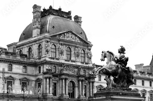 Fotografie, Obraz  Statue of Louis xiv in louvre museum Paris