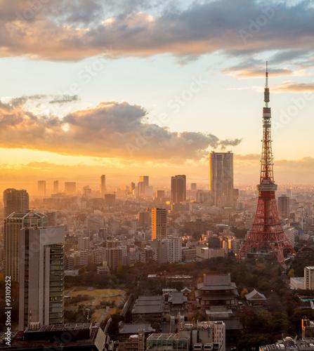 Poster Tokyo Tokyo Tower in Tokyo, Japan.