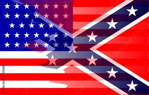 Fotografija  Civil War Flag Blend