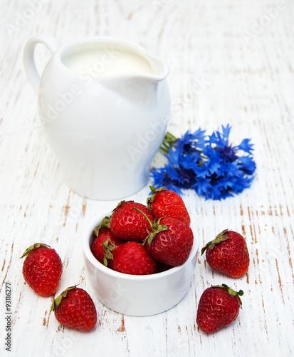 Staande foto Zuivelproducten Jug of milk