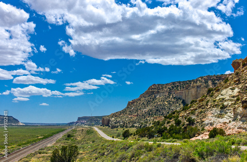 Keuken foto achterwand Route 66 U.S.A. New Mexico, landscapes from the Route 66 between Gallup and Arizona