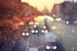 Night city background, blur background Road