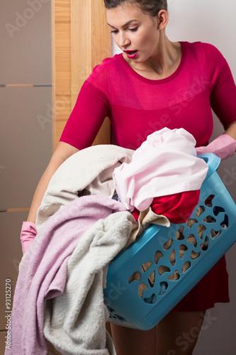Vászonkép Heavy load of laundry