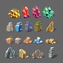 Magic Crystal And Rock Textures