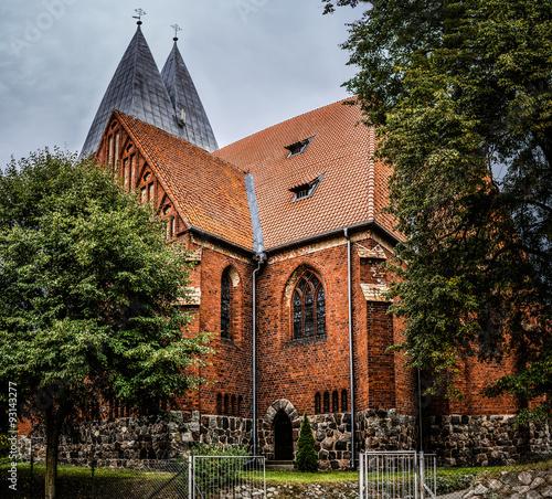 Fototapeta Basilica of St. James Apostle in Olsztyn, Poland