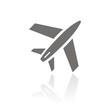 Icono avión FB reflejo