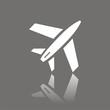 Icono avión FO reflejo