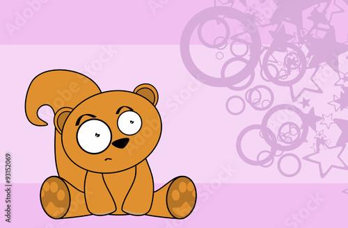 sweet baby squirrel cartoon background in vector format  #93152069