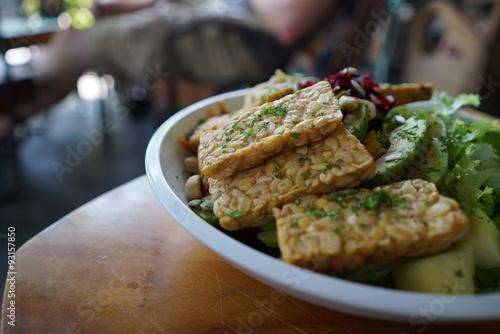 Fotografie, Obraz  Tempeh vegan food Bali