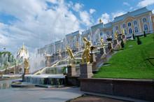 Grand Cascade .Peterhof Palace