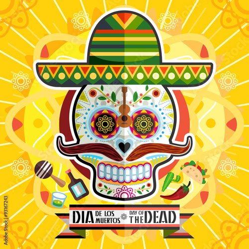 Photo  Dia De Los Muertos Day Of The Dead Skull