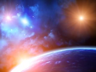 Fototapeta rozświetlony kosmos