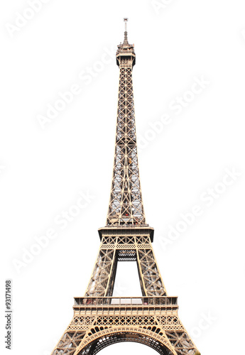 Famous Eiffel tower in Paris Poster