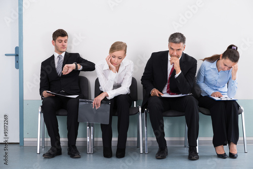 Fotografie, Obraz  Businesspeople Waiting For Job Interview