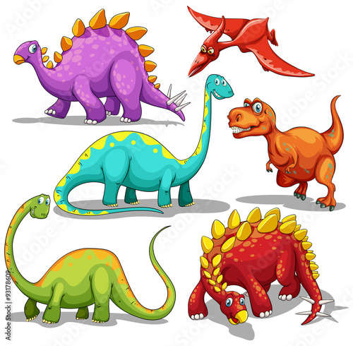 Different type of dinosaurs Poster