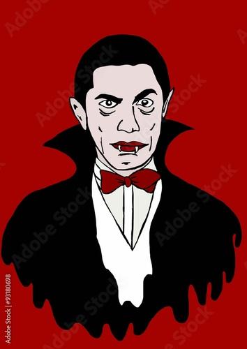 Dracula icon Poster