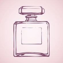Bottle Of Perfume. Vector Draw...