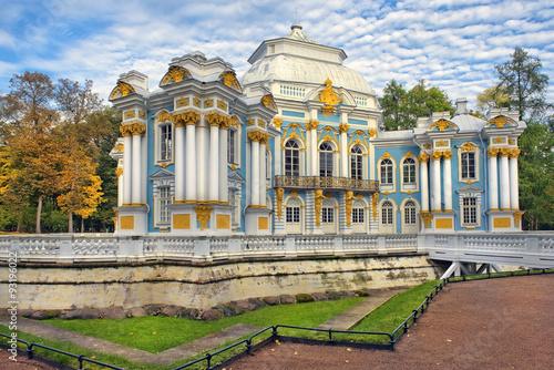 Foto op Plexiglas Historisch geb. Pavilion Hermitage, Catherine Park,Tsarskoye Selo (Pushkin), Russia in autumn