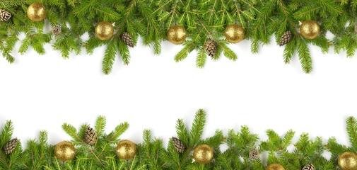 FototapetaTannenzweige - Weihnachten - Banner