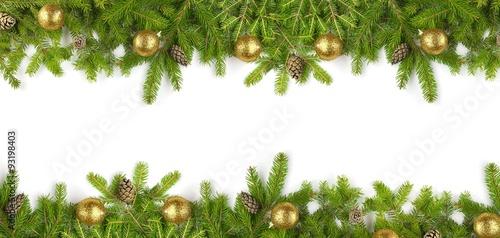 Tannenzweige - Weihnachten - Banner - 93198403