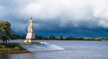 The Statue Mother Volga Stands...