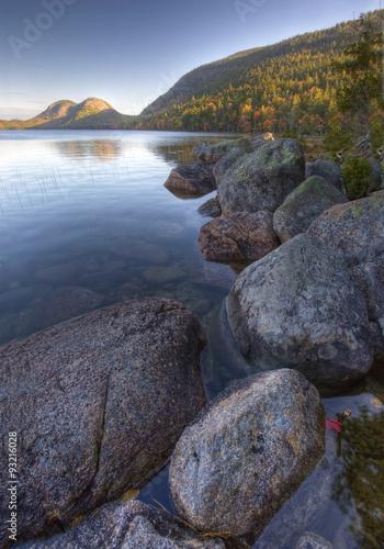 Fotografie, Obraz  Vertical of Jordon Pond in Acadia National Park