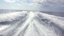 Sea Water Wake Behind Power Boat