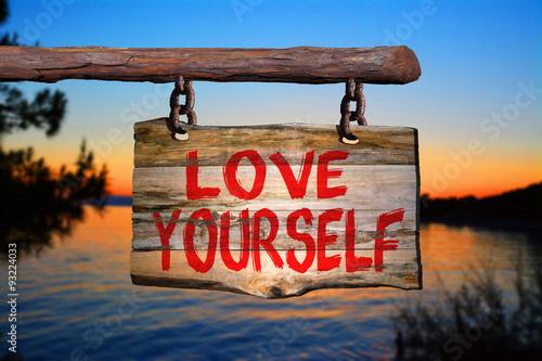 Fotografie, Obraz  Love yourself sign